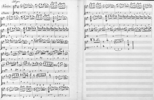 Déchiffrage pour violon de Pierre Gaviniès - Archives nationales (France), cote AJ37/203/3