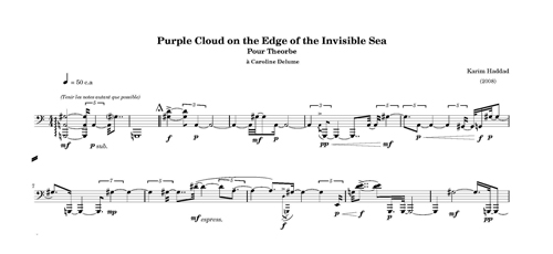 Purple Cloud on the Edge of the Invisible Seade Karim Haddad (2008).