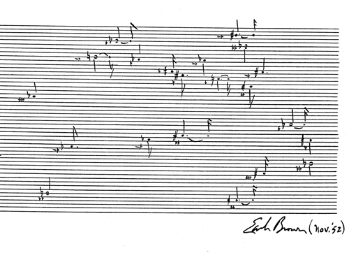 November 52 (1952) d'Earle Brown (© Associated Music Publishers, New York).