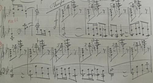 Le Chalutier mes. 56 (Tempo primo)-65. Copie de l'autographe du compositeur. Archives LR.