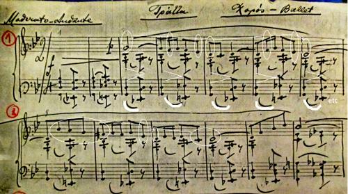 Le Chalutier, mes.1-13. Copie de l'autographe du compositeur. Archives LR.