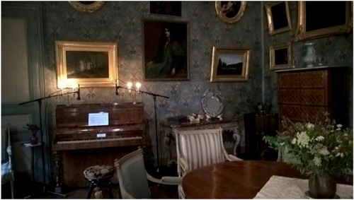 Maison de George Sand : piano de Chopin 	Source : http://micdiap.canalblog.com/archives/2017/12/13/35954547.html